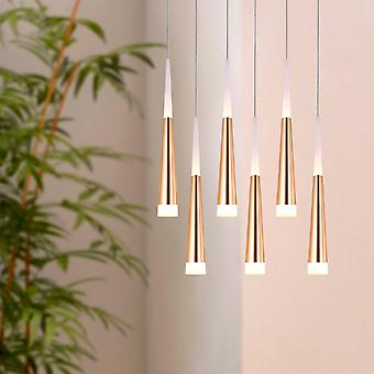 COMET 6 Mini Pendant Lighting Brass - Luminaire suspendu LED pour Kitchen Island, Bar, Foyer