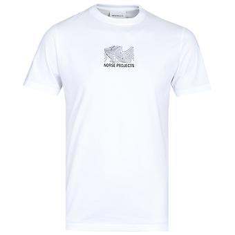 Norse Projects Niels White Logo T-Shirt