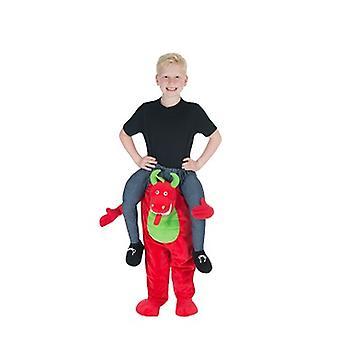 Drachen Huckepack Trag mich Kinder Kostüm