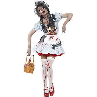 Horror Zombie Countrygirl Costume, UK 16-18