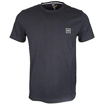 מעשיות הוגו בוס-חולצת כותנה שחורה פשוטה