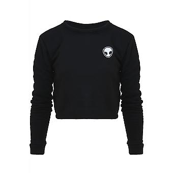 Attitude Clothing Alien Cropped Sweatshirt