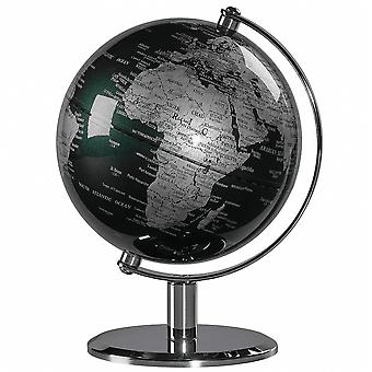 Wild & Wolf Fir Green & Chrome Desk Globe 6""