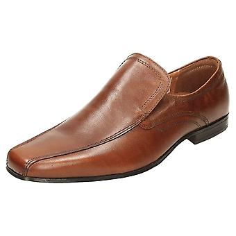 Red Tape Leather Formal Slip On Wedding Shoes Brown