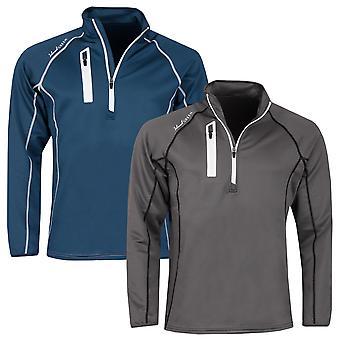 Island Green Mens 2020 Contrast Stitch 1/4 Zip Thermal Golf Sweater