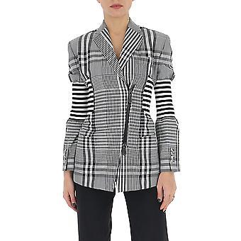 Burberry 4564184a1931 Women's White/black Cotton Blazer