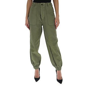 R13 R13w755493 Women's Green Cotton Pants