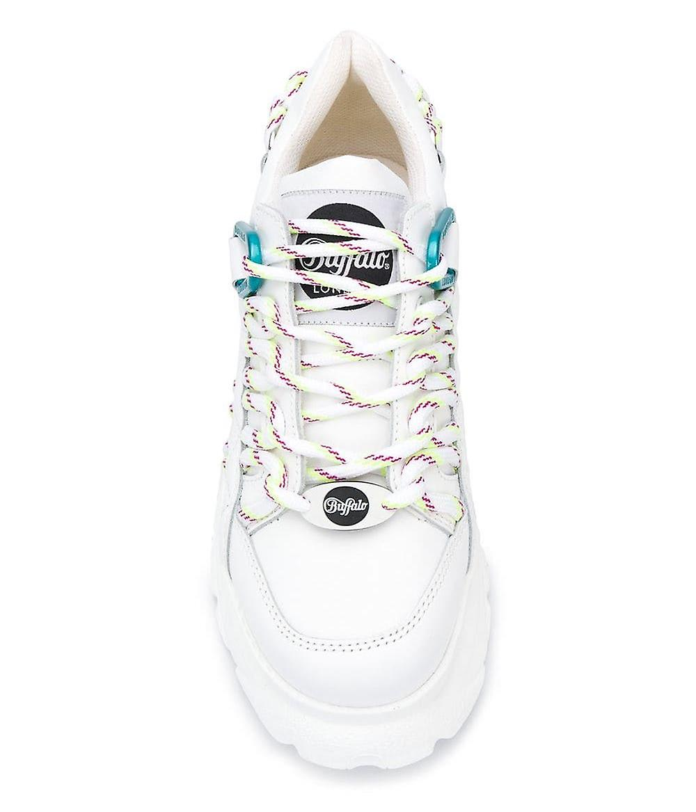 1352-14 Vita plattform sneakers - Gratis frakt