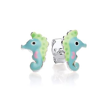 David Deyong Children's Sterling Silver Little Seahorse Stud Earrings