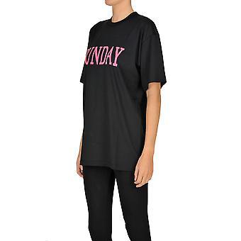Alberta Ferretti Ezgl095030 Frauen's schwarze Baumwolle T-shirt