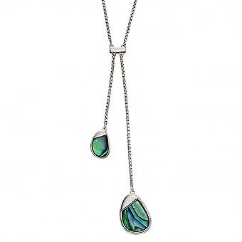 Fiorelli Silver Sterling Silver Pebble Abalone Necklace N4371S