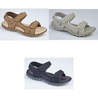 PDQ Ladies/Womens Twin Touch Fastening Sandals