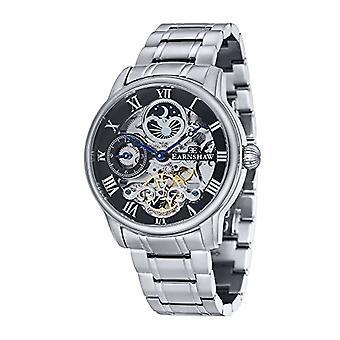 Thomas Earnshaw Longitude ES-8006-11, montre bracelet hommes, bracelet en acier inoxydable, argent