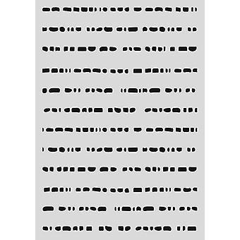 Estêncil da Máscara pronty - Doodle pontos 470.802.058 - A5