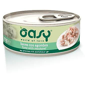 Oasy Can of Tuna with Mackerel (Cats , Cat Food , Wet Food)