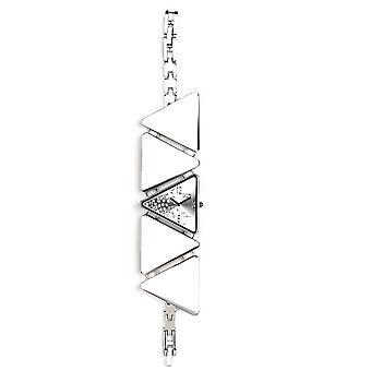 Eton Bracelet Fashion Watch, Chrome Triangle shaped case & links - 3092J-CH