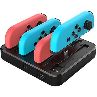 REYTID 7 in 1 Multi Functional Charging Station Dock Compatible with Nintendo Switch Joy-Con and Switch Pro Controllers