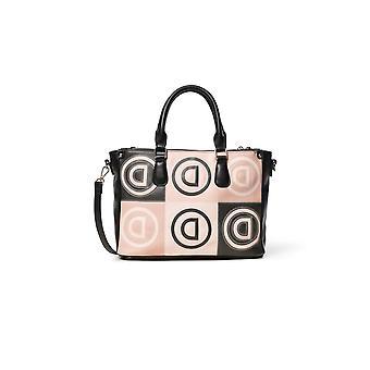 Desigual Women's Logo Patch Safi Cross Body / Hand Held Handbag with Logomania Print