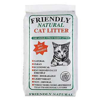 الصداقة عقارات ودية القش الطبيعية القائمة على القمامة القط (8kg)