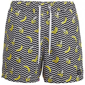 Bjorn Borg Banana Stripe Print Swim Shorts, Black
