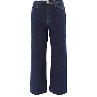 Frame Awcra415brnx Women's Blue Cotton Jeans