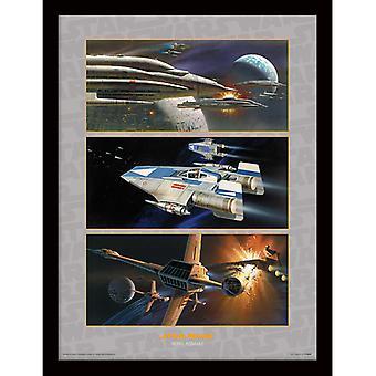 Star Wars Rebel Assault kehystetty levy 30 * 40cm