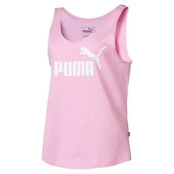 Puma Essential Logo Womens Ladies Fitness Sleeveless Tank Top Vest Pale Pink