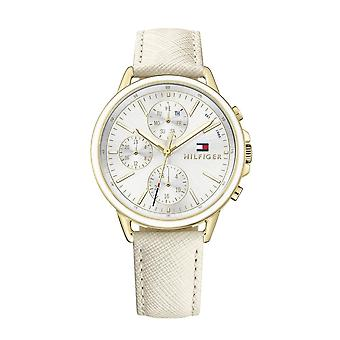 Tommy Hilfiger Watches 1781790 Carly Textured Cream Leather Ladies Watch