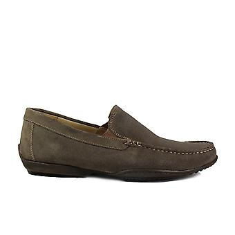 Anatomic Tavares Khaki Green Suede Leather Mens Slip On Loafer Shoes