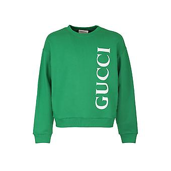 Gucci 599345xjb1c3189 Men's Green Cotton Sweatshirt