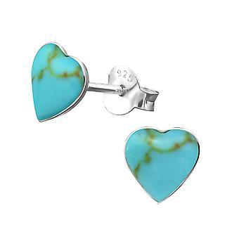 القلب - 925 ستيرلينغ الفضة عادي الأذن ترصيع - W16548x