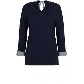 Olsen Navy Fine Knit Jumper