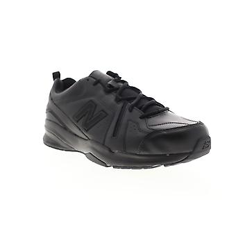 New Balance 608V5 Mens Black Leather Lace Up Athletic Cross Training Shoes