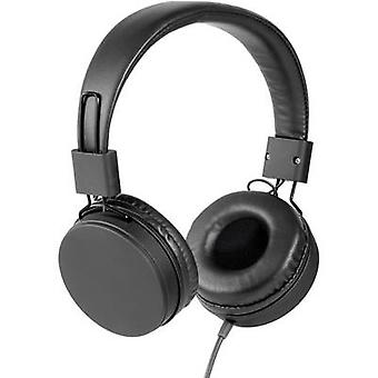 Vivanco NEOS Hi-Fi On-ear headphones On-ear Ear clip Black