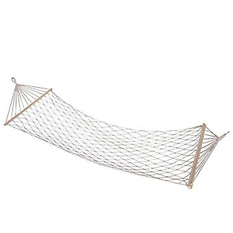 Braided Hammock with Wooden rods - 80 x 200 cm