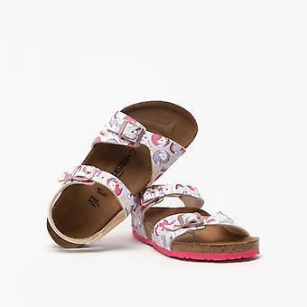 Биркенсток Рио 1015620 (рег) Девушки Бирко-флор Два ремешка сандалии Единорог Розовый