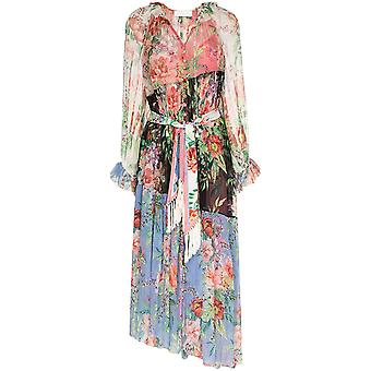 Zimmermann 8444dbtdspli Women's Multicolor Silk Dress