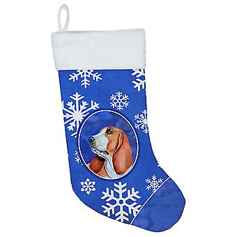 Basset Hound Winter Snowflakes Snowflakes Holiday Christmas Stocking
