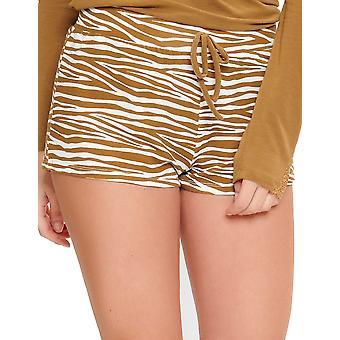 LingaDore Butternut Weihrauch 5625-173 Frauen's weiß & Beige Zebra Pyjama Kurz