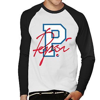 Pepsi retro college sport mannen ' s honkbal lange mouwen T-shirt