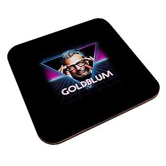Jeff Goldblum Retro 80s Neon Landscape Coaster