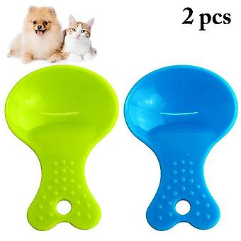 Environmental Friendly And Durable Plastic Pet Food Scoop Creative Assorted Dog Food Feeding Spoon