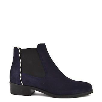 Kanna Nola Blue Suede Ankle Boots