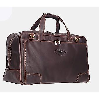 Primehide Mens Leather Travel Holdall Weekend Overnight Gym Duffle Bag Gents 735