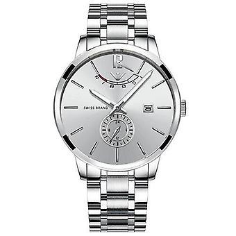 Solidny zegarek kwarcowy ze stali nierdzewnej