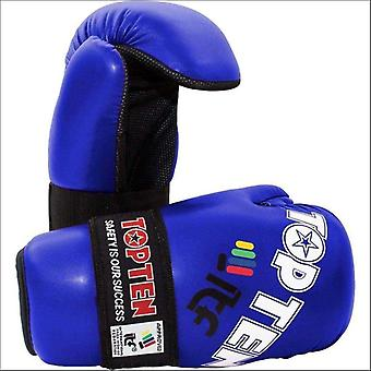 Top ten open hand itf glove blue