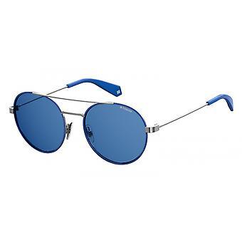 نظارات شمسية Unisex 6056/Spjp/C3 فضة/أزرق