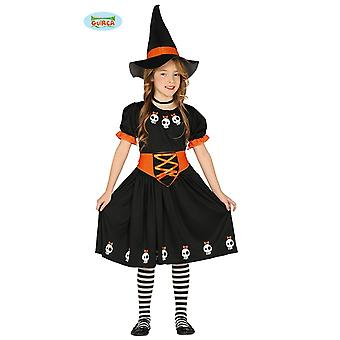 Skull witch witch Halloween girl costume