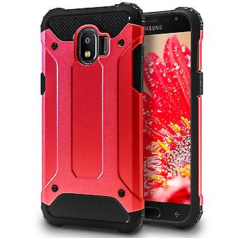 Hybrid Mobile Shell for Samsung Galaxy J2 Pro (2018) | Red | TPU and Plastic