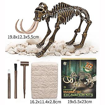 Simulation Dinosaur Archeological Fossil Toy - Excavation Animal Skeleton Stitching Model For Kids